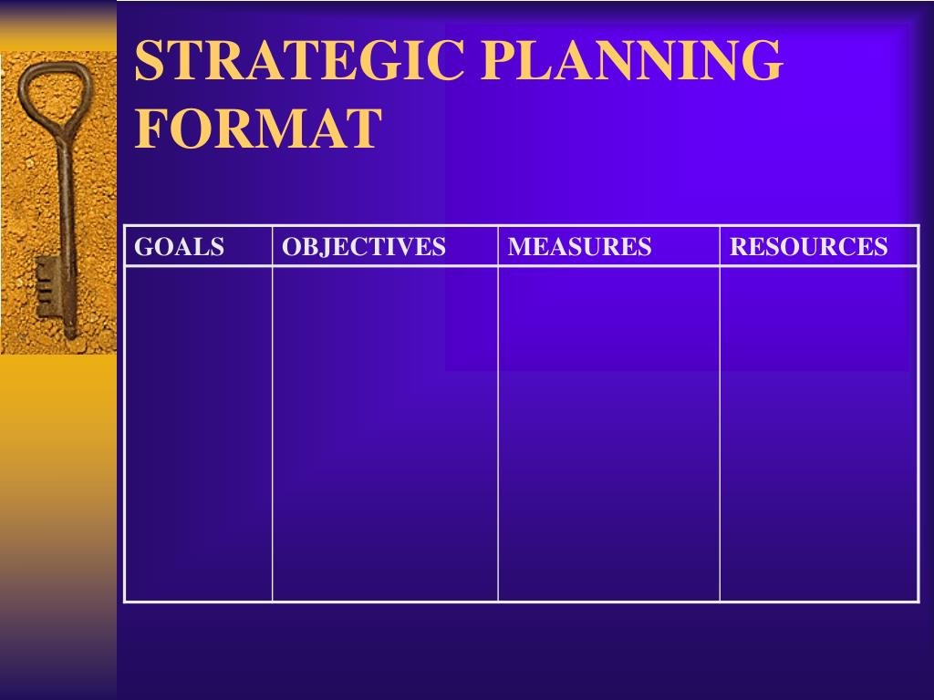 STRATEGIC PLANNING FORMAT