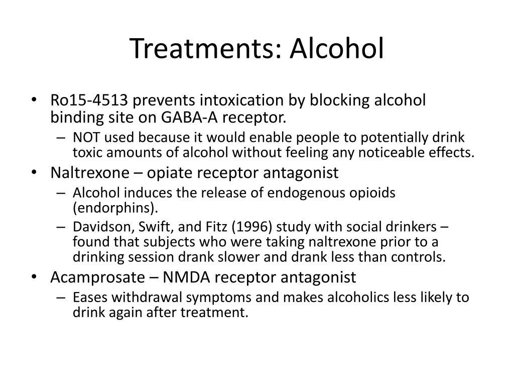 Treatments: Alcohol