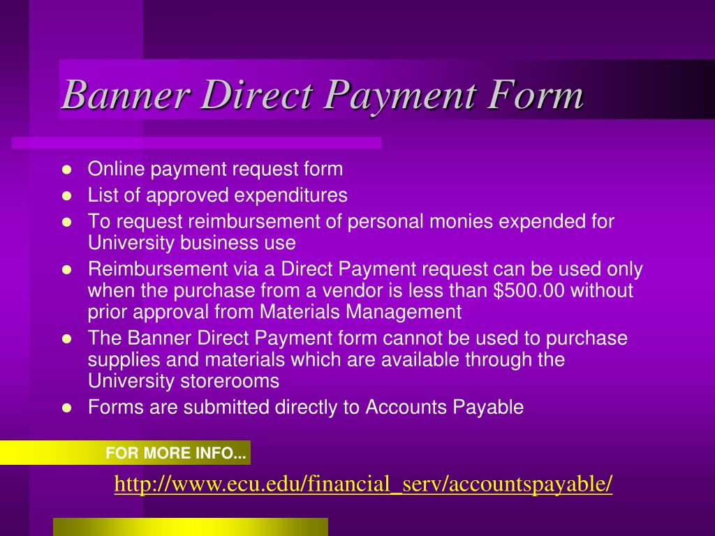 Banner Direct Payment Form