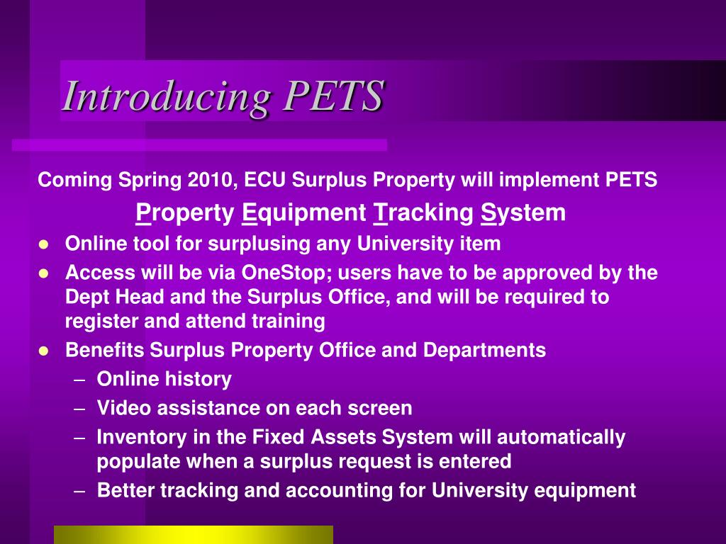 Introducing PETS
