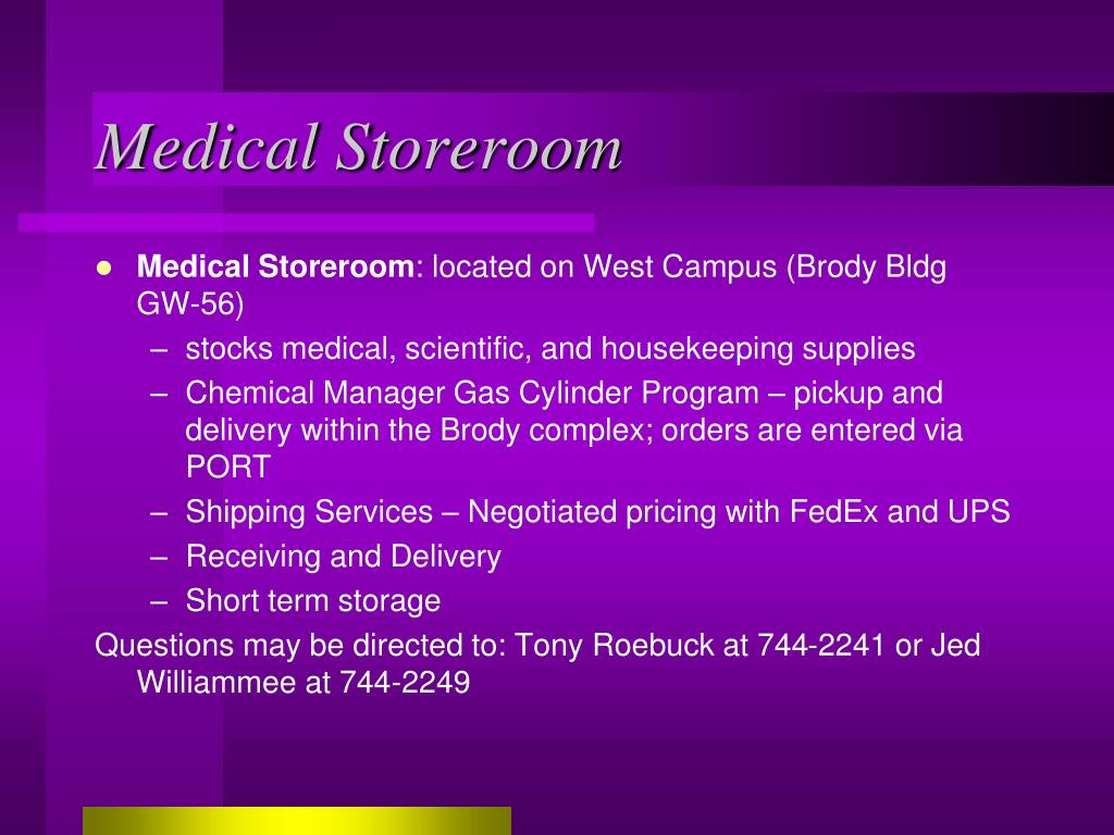 Medical Storeroom