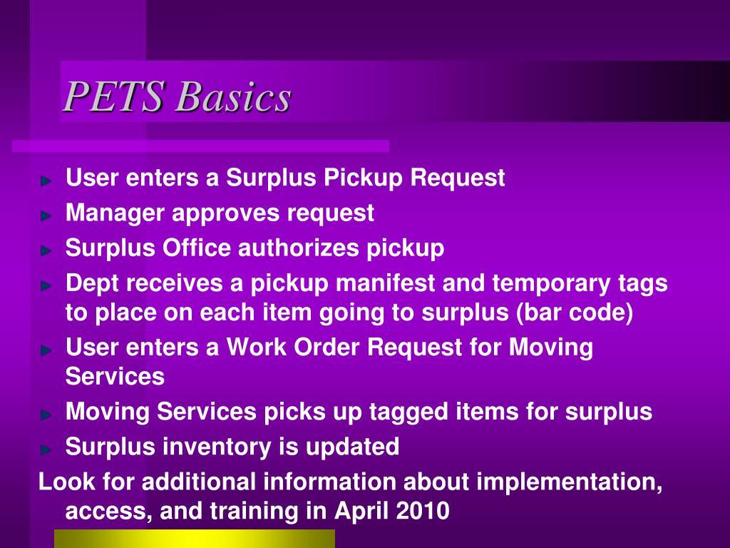 PETS Basics