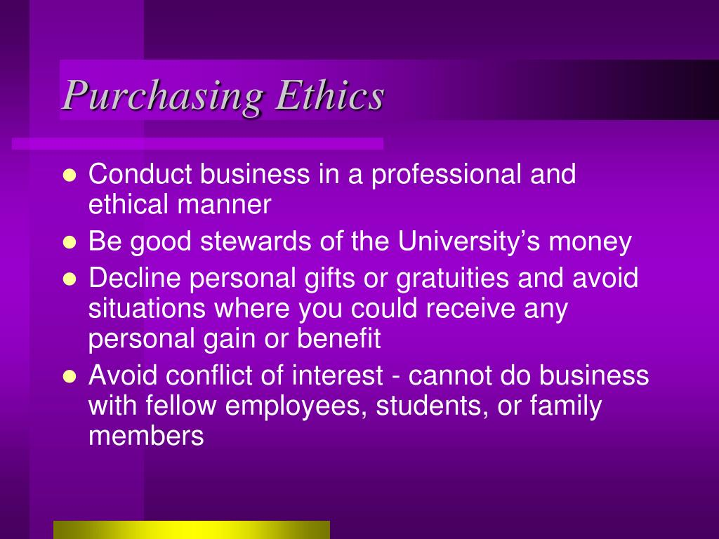 Purchasing Ethics