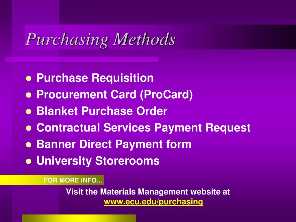 Purchasing Methods