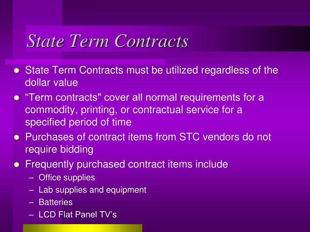 State Term Contracts