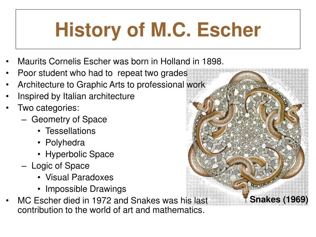 History of M.C. Escher