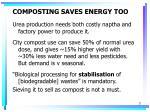 composting saves energy too