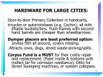 hardware for large cities