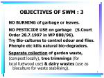 objectives of swm 3