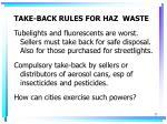 take back rules for haz waste