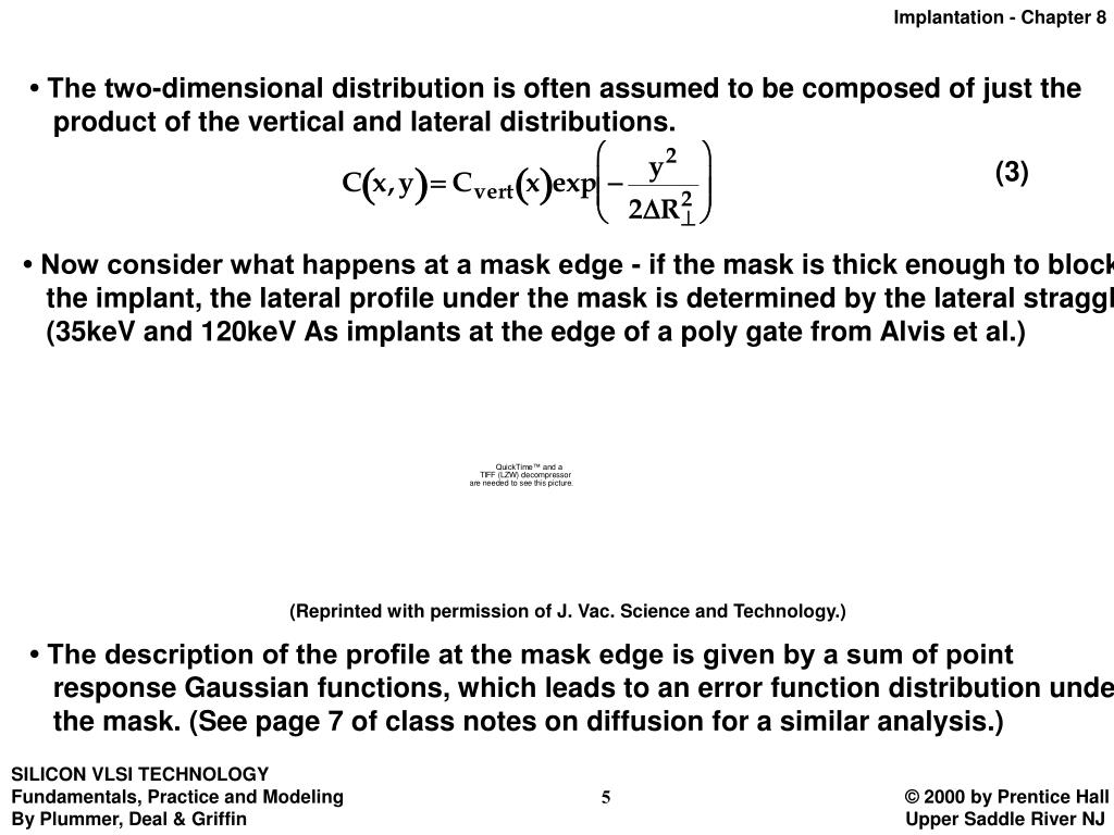 • The two-dimensional distribution is often assumed to be composed of just the