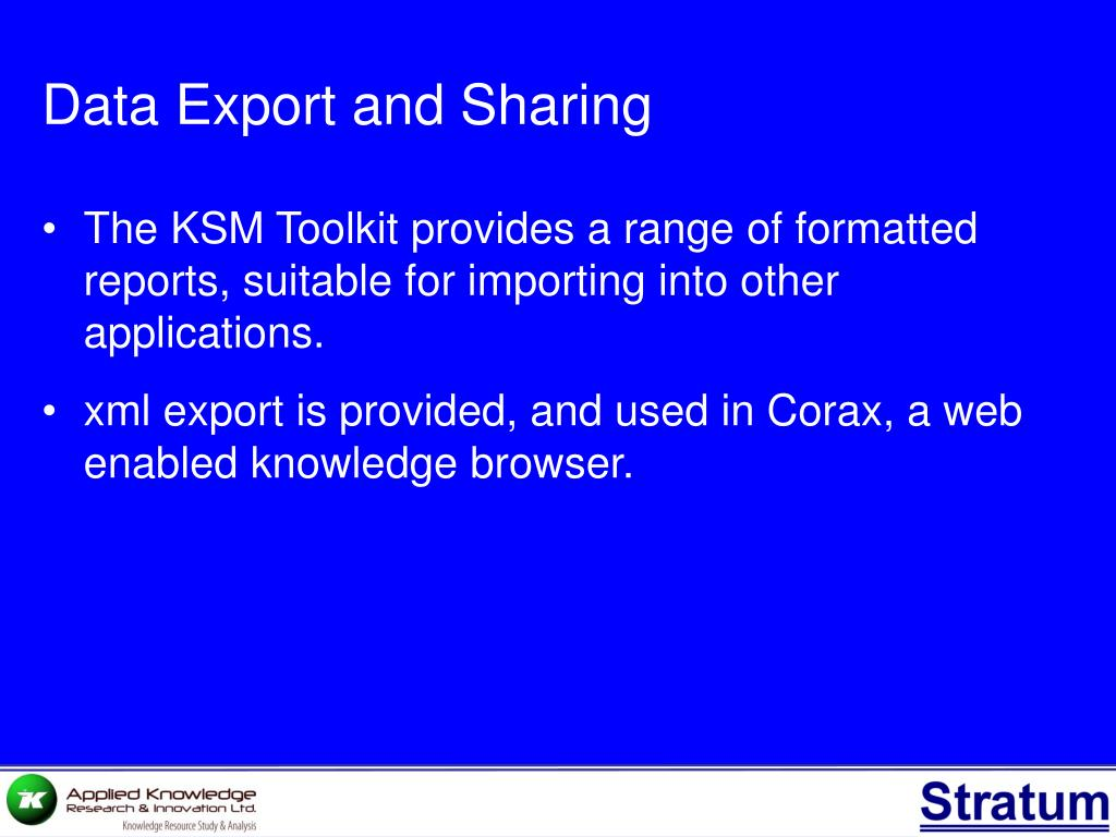 Data Export and Sharing