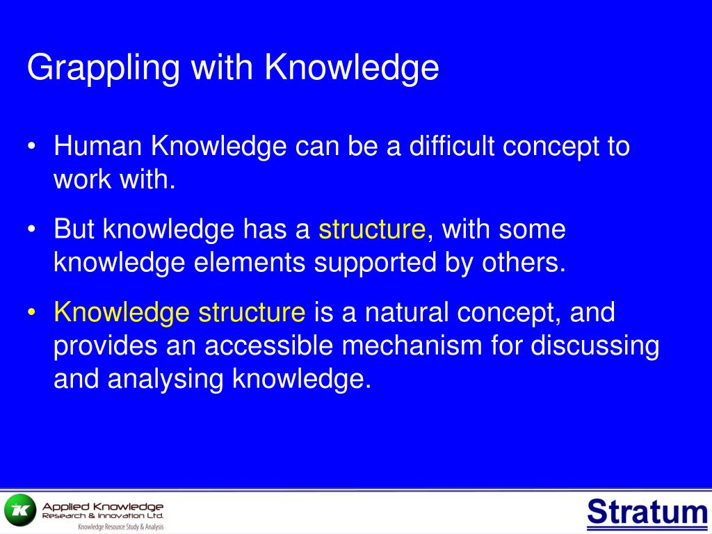 Grappling with Knowledge