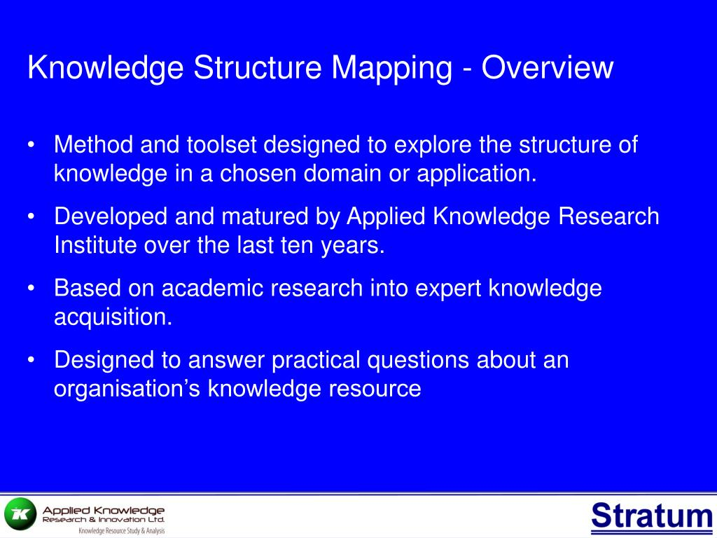 Knowledge Structure Mapping - Overview