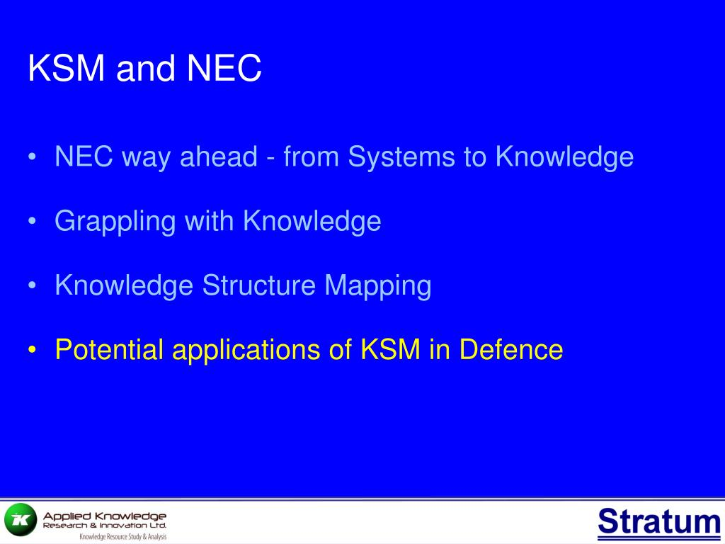 KSM and NEC