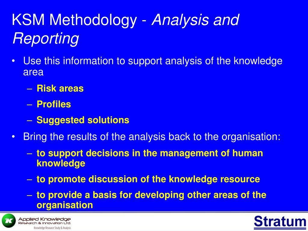 KSM Methodology -