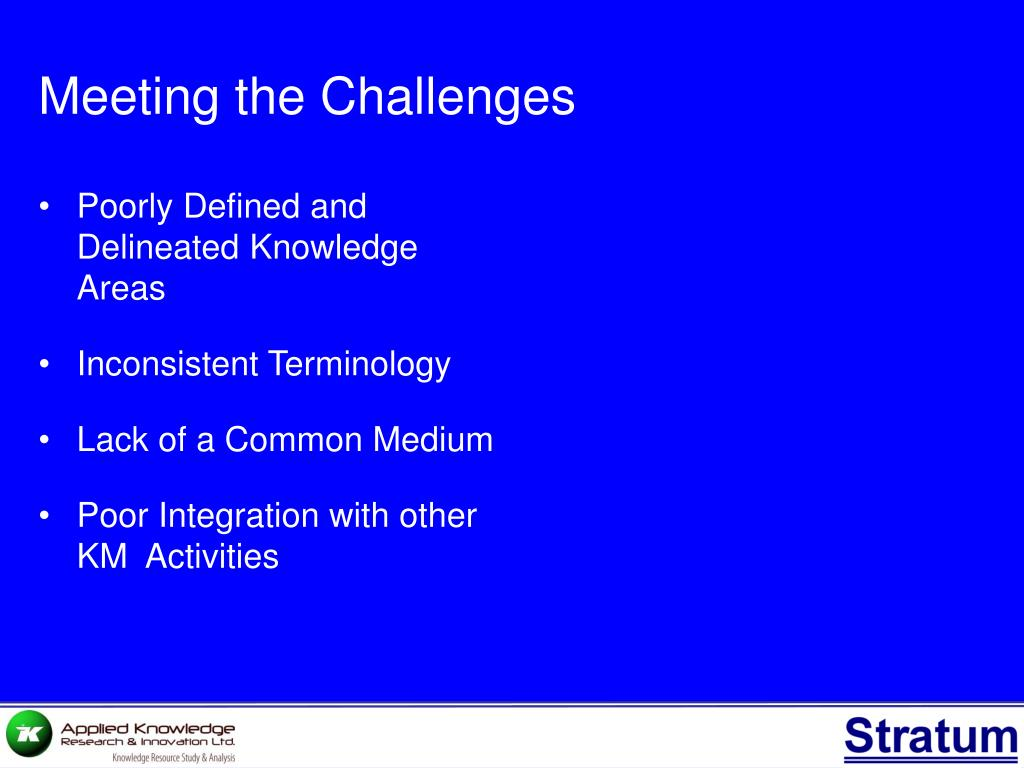Poorly Defined and Delineated Knowledge Areas