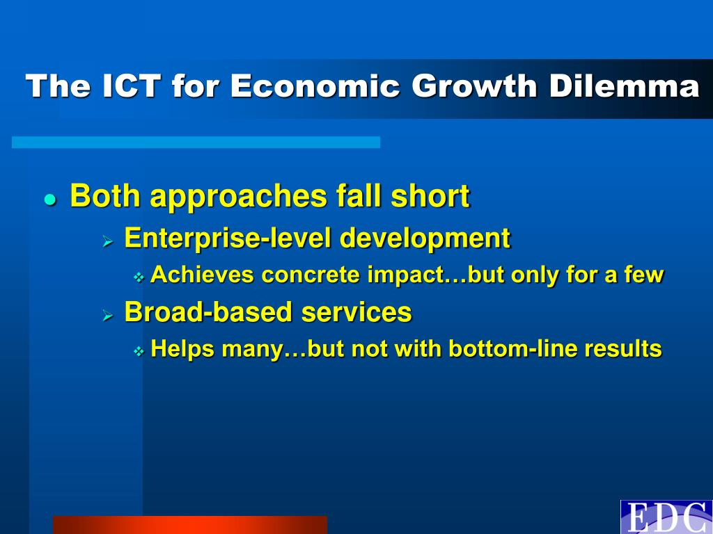 The ICT for Economic Growth Dilemma