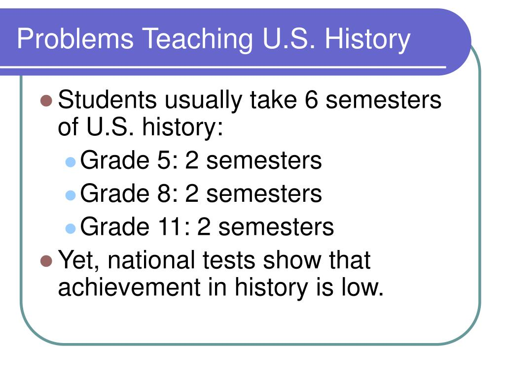 Problems Teaching U.S. History
