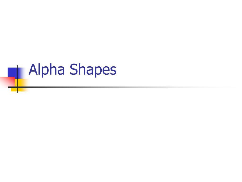 Alpha Shapes