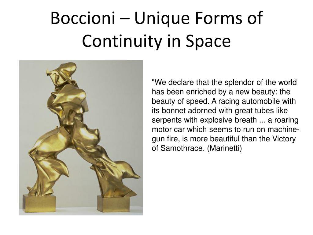 Boccioni – Unique Forms of Continuity in Space