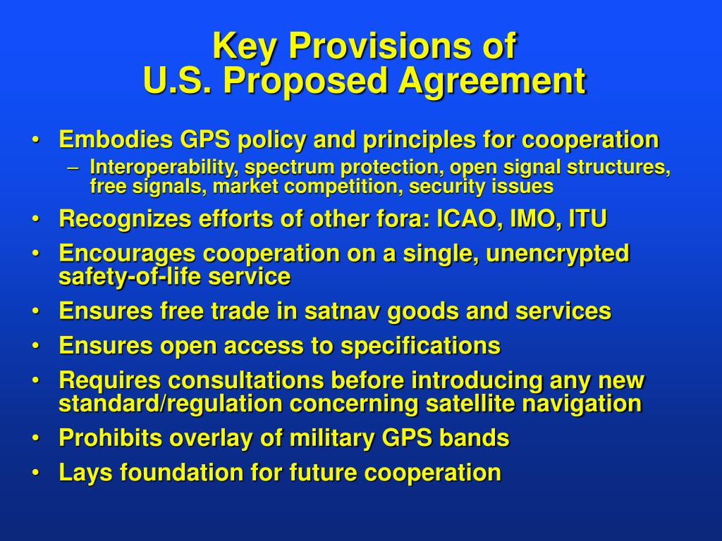 Key Provisions of