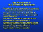key provisions of u s proposed agreement