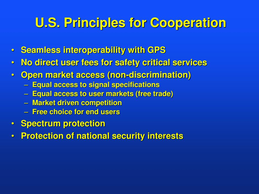 U.S. Principles for Cooperation