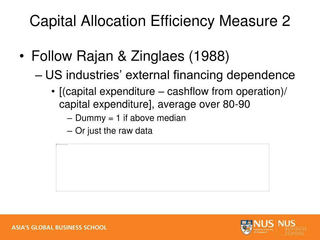 Capital Allocation Efficiency Measure 2