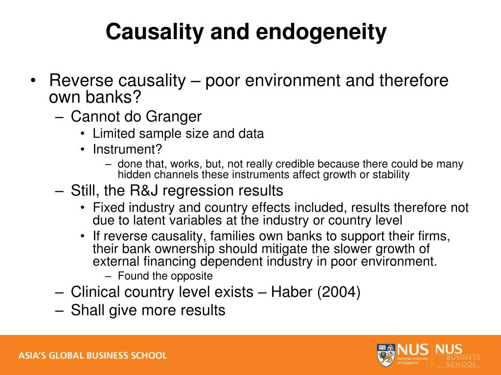 Causality and endogeneity