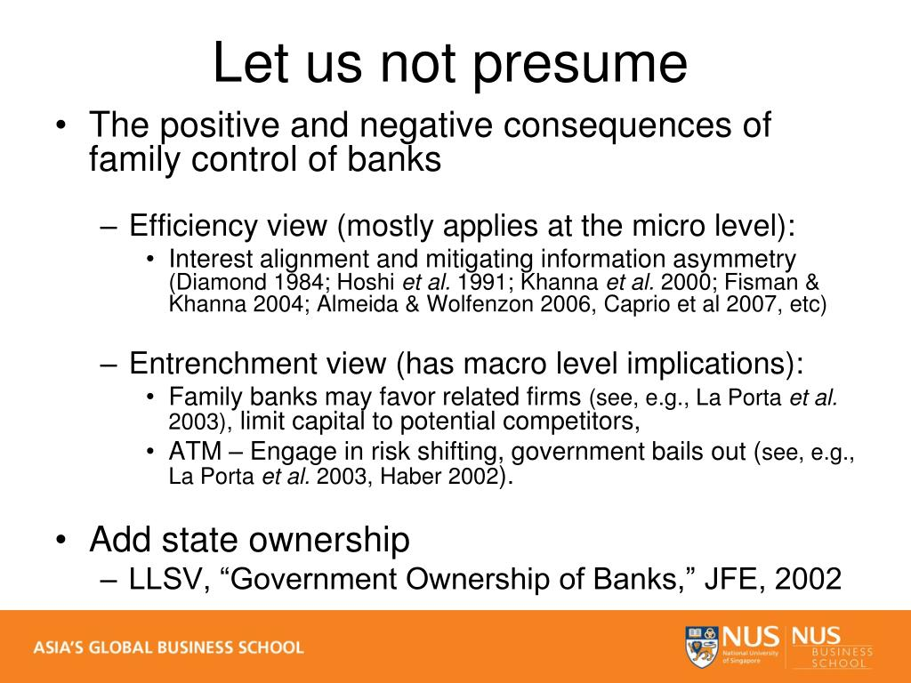 The positive and negative consequences of family control of banks