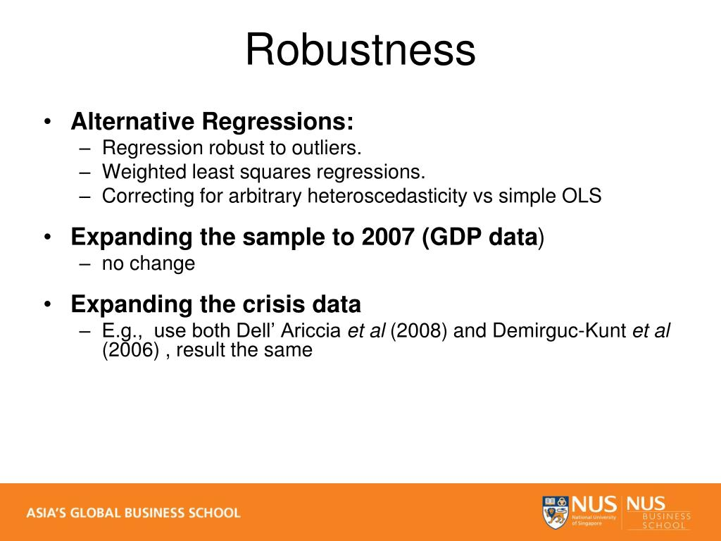 Alternative Regressions: