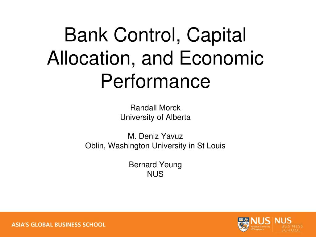 Bank Control, Capital Allocation, and Economic Performance