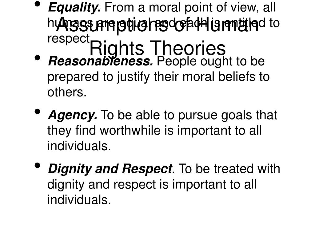 Assumptions of Human Rights Theories