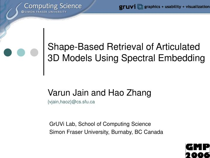 Shape based retrieval of articulated 3d models using spectral embedding l.jpg
