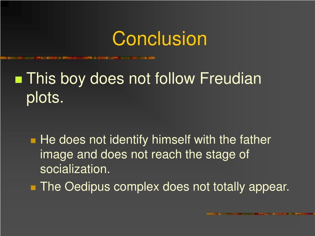 oedipus complex thesis statement
