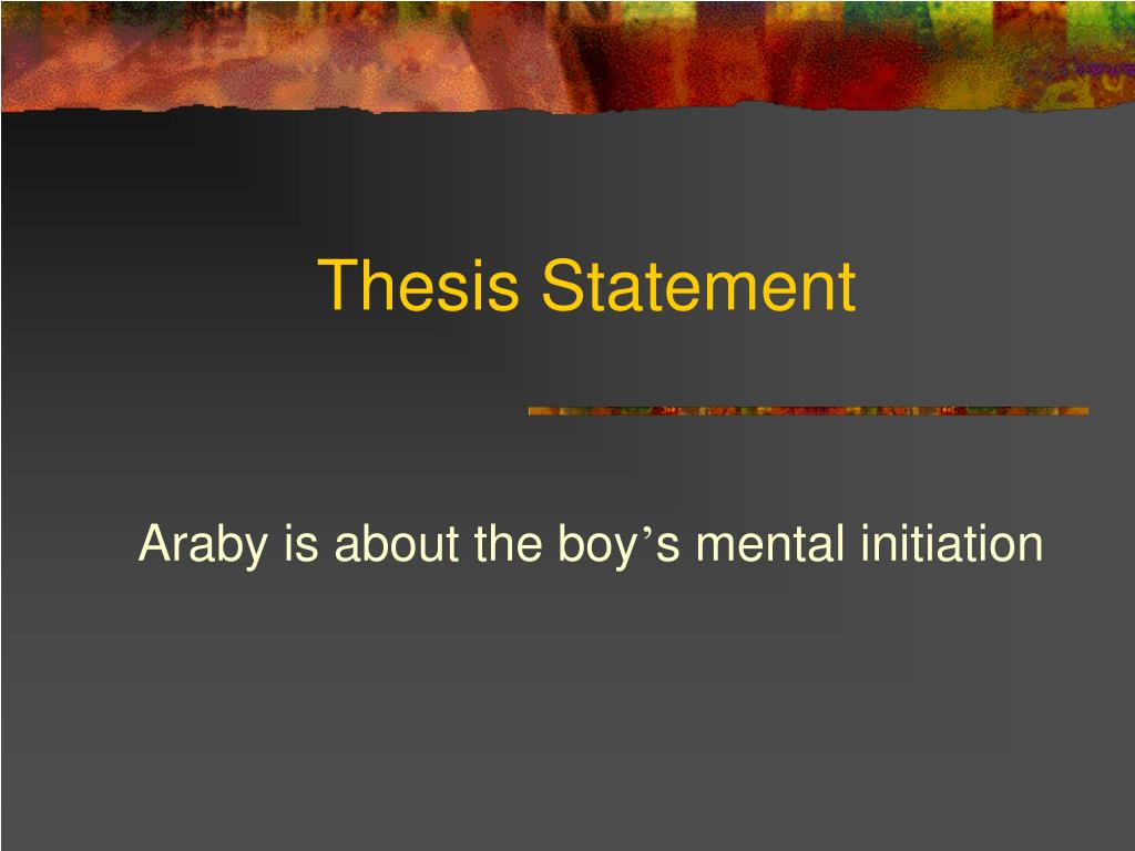 araby analysis essay