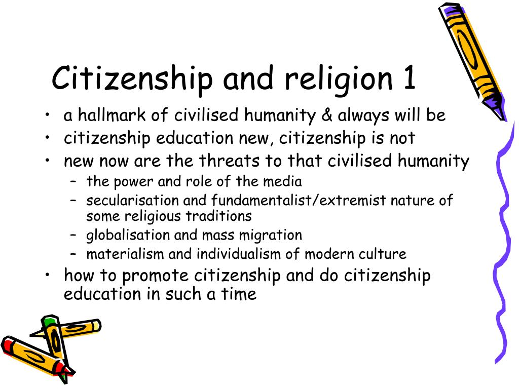 Citizenship and religion 1