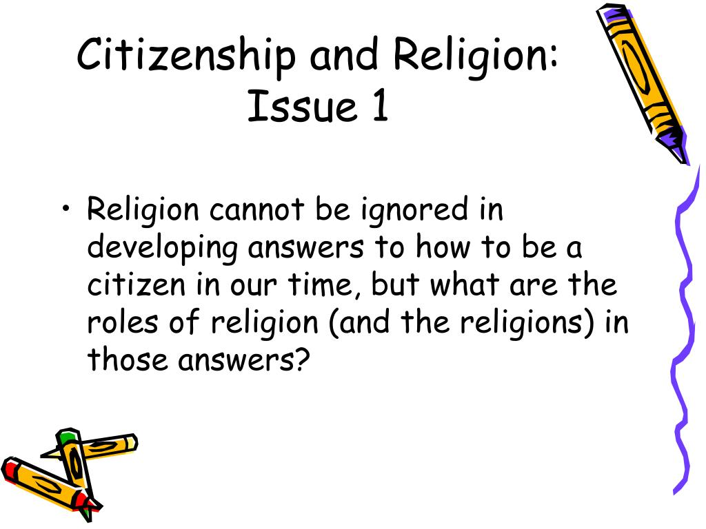 Citizenship and Religion: Issue 1