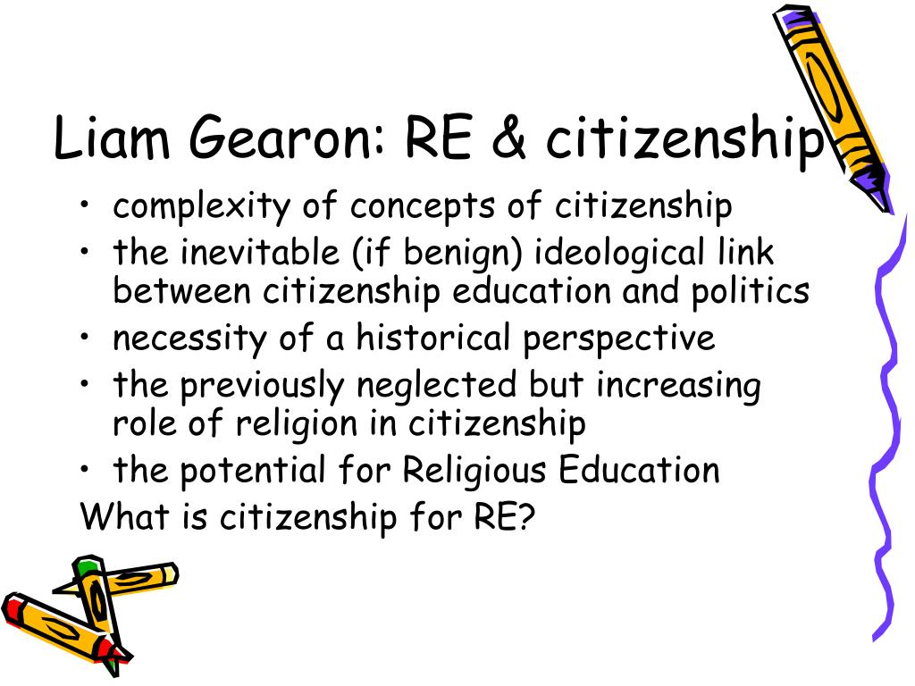 Liam Gearon: RE & citizenship