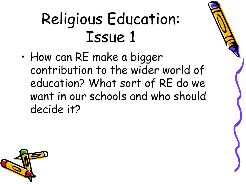Religious Education: Issue 1