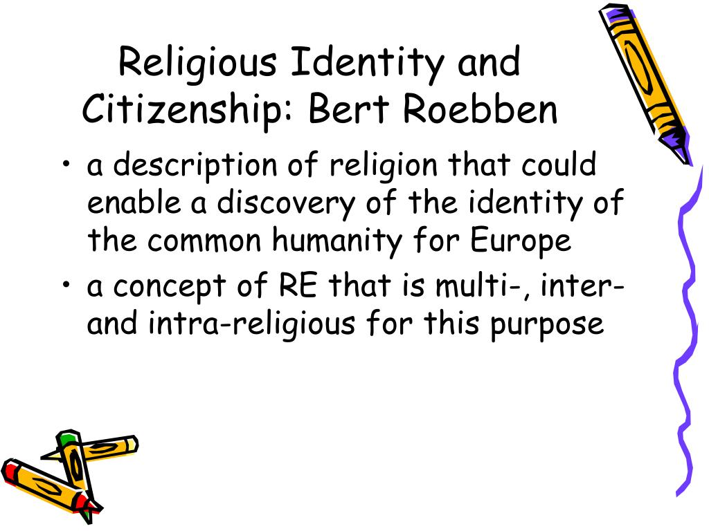 Religious Identity and Citizenship: Bert Roebben