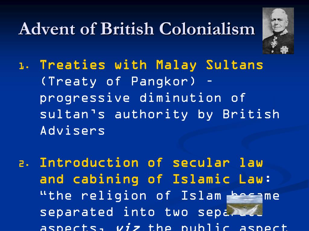 Advent of British Colonialism