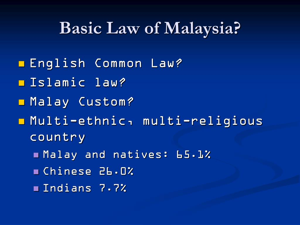 Basic Law of Malaysia?