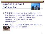 confessional malaysia