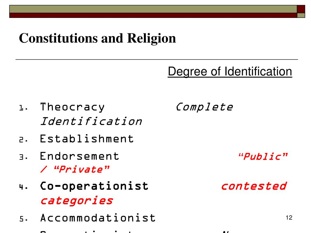 Constitutions and Religion