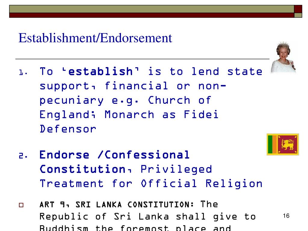 Establishment/Endorsement