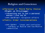 religion and conscience62