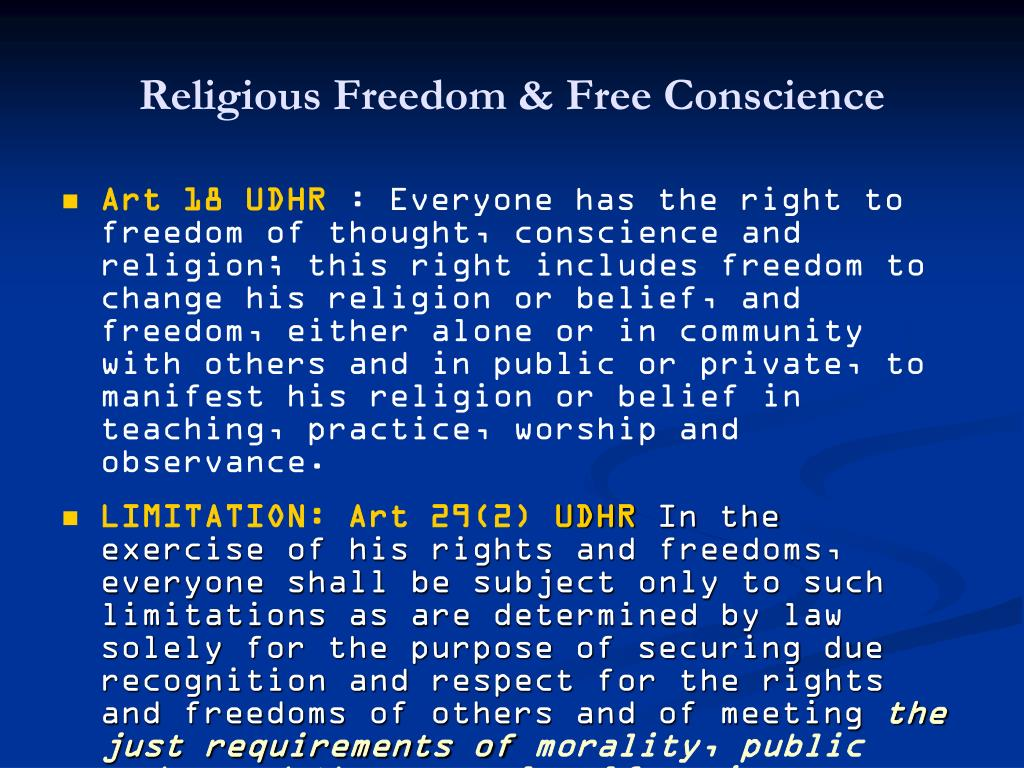 Religious Freedom & Free Conscience
