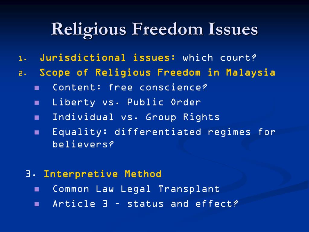 Religious Freedom Issues